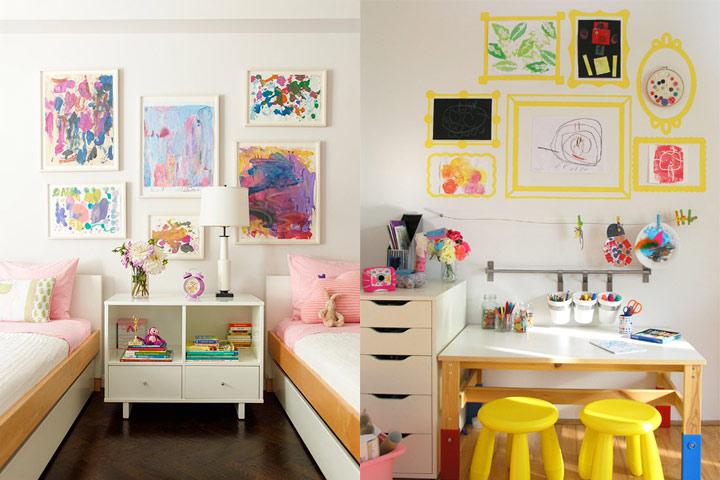 Ideas para decorar las paredes de un dormitorio infantil the deco soul - Decorar paredes dormitorio ...
