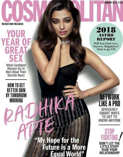 Radhika Apte - Cosmopolitan India January 2018