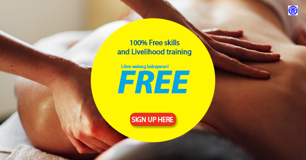 10+ Free Skills and Livelihood Trainings (Massage Therapy, Tailoring, Food Processing and More..)