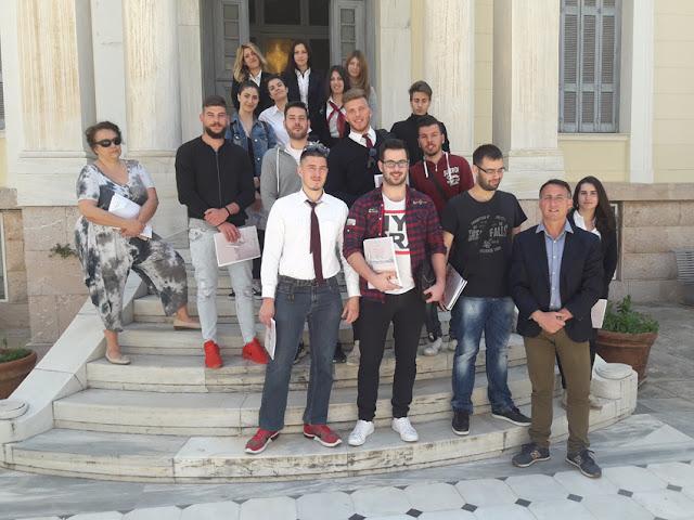 Τελετή λήξης μαθημάτων στη Σχολή Τουριστικής Εκπαίδευσης ΙΕΚ Πελοποννήσου στο Άργος