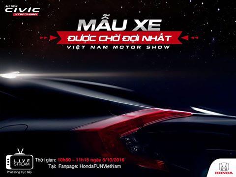 Honda Civic VTEC Turbo – Mẫu xe được chờ đợi nhất Vietnam Motor Show 2016