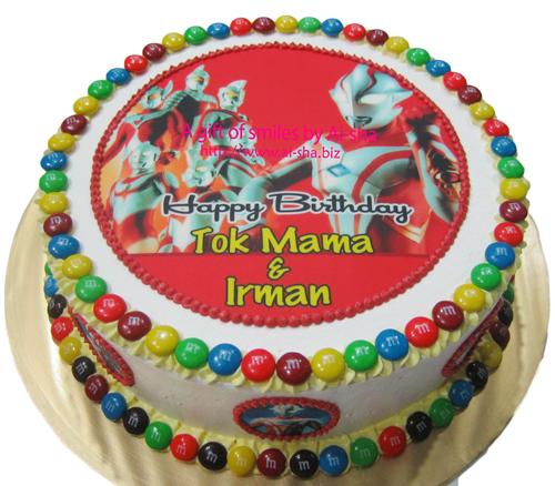 Birthday Cake Kek Hari Jadi Ultraman Aisha Puchong Jaya