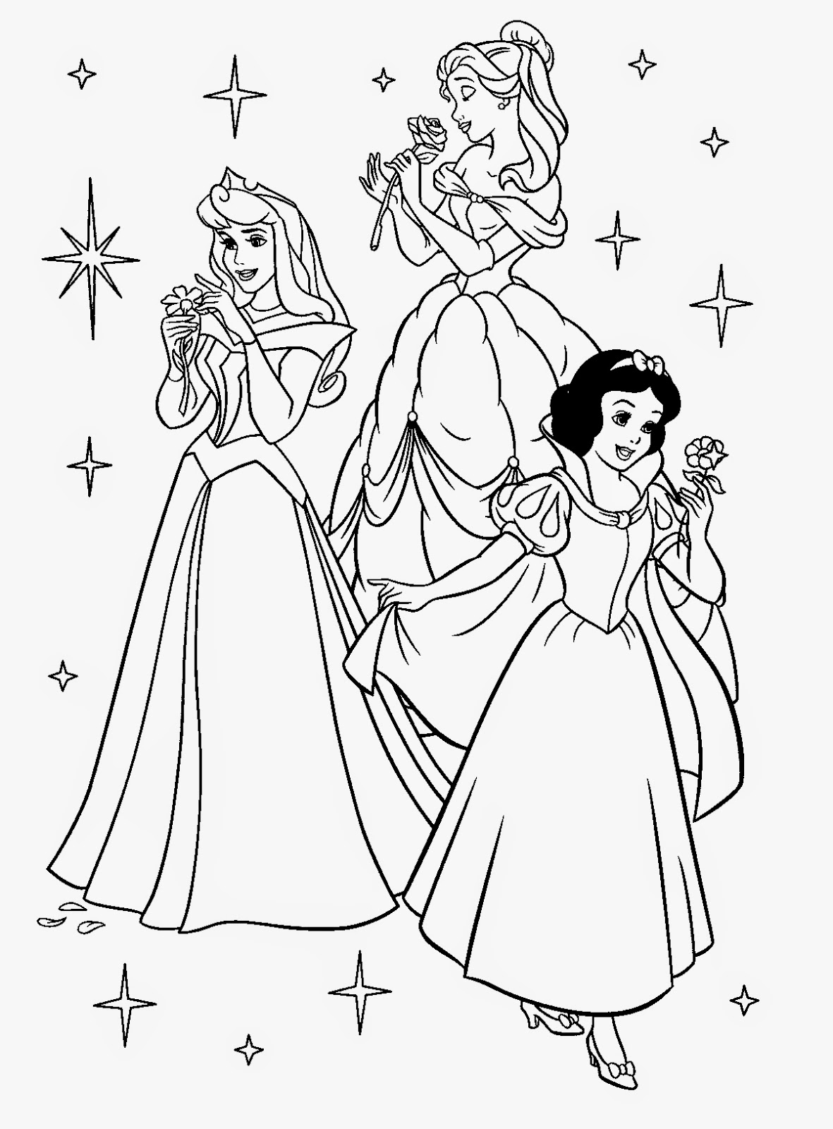 14 wall disney princess coloring pages printable for Princess printable color pages