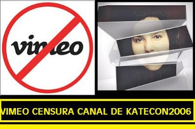 Vimeo arremete y censura a #Katecon2006 cancelando el canal de #conspiraciones del nuevo orden mundial reptiliano