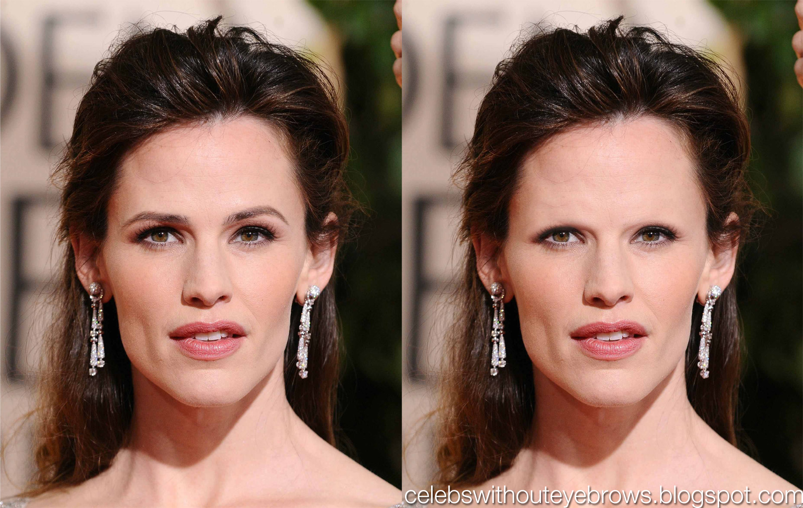 Celebs Without Eyebrows: Jennifer Garner