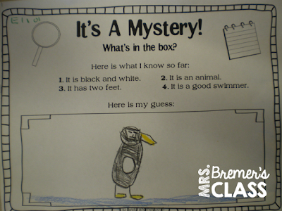 Pesty the Penguin chit chat chart morning message activities for Kindergarten
