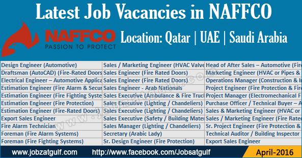 Latest Job Vacancies in NAFFCO - UAE   Saudi Arabia   Qatar