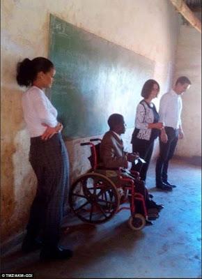 Photos: Rihanna visits school children in Malawi