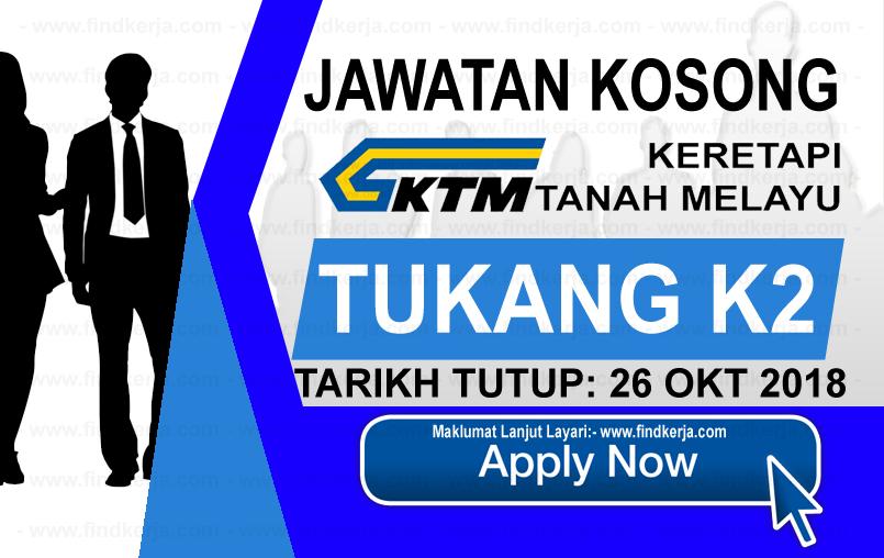 Jawatan Kerja Kosong KTMB - Keretapi Tanah Melayu Berhad logo www.ohjob.info www.findkerja.com oktober 2018