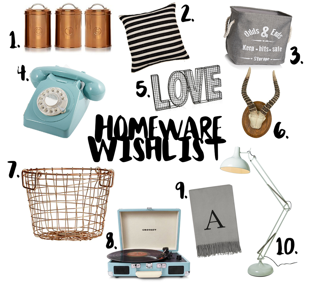 Homeware, wishlist, interiors, mid century modern, copper, mint, minimal, black, lifestyle bloggers