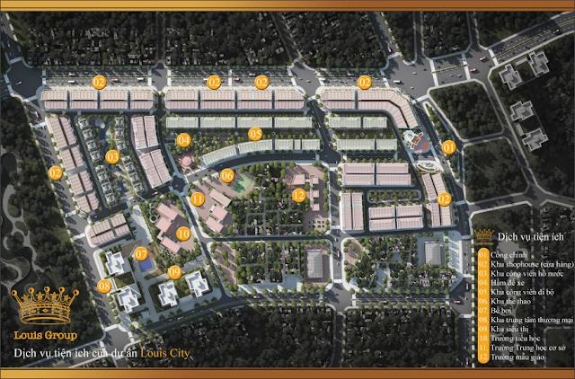 Phân khu xây dựng dự án Louis City Đại Mỗ