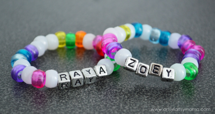 Easy Kids Friendship Bracelets at artsyfartsymama.com