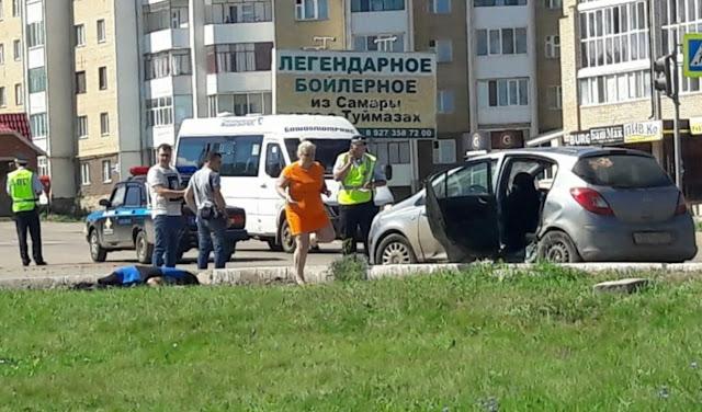В Туймазах  погибла женщина вылетев из автомобиля