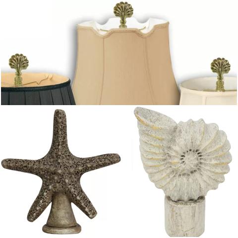 Starfish Seashell Lamp Finials