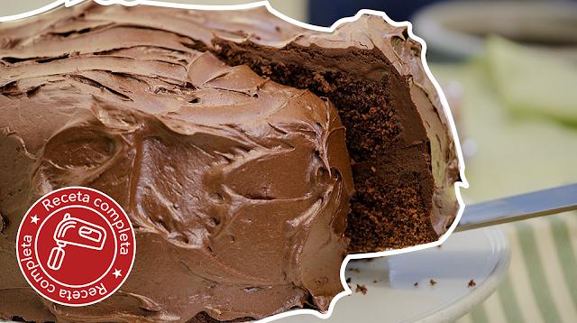 Pastel de chocolate receta completa FonQui repostería