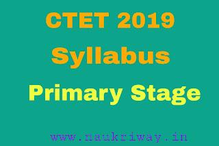 CTET 2019 syllabus