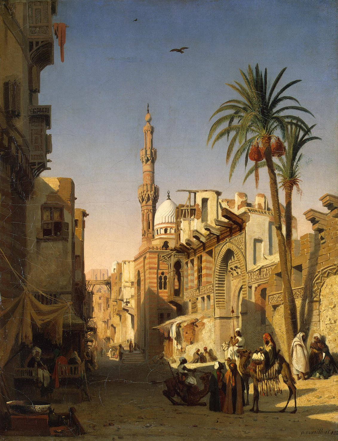Egypt Old Cairo Paintings Prosper Georges Antoine