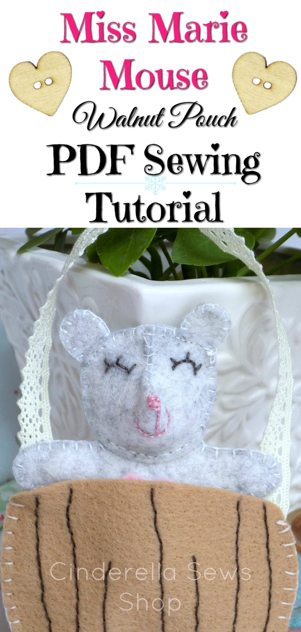 Miss Marie Felt Mouse Sewing Tutorial PDF Pattern