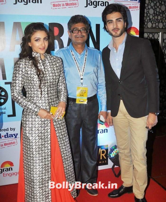 Soha Ali Khan, Imran Abbas Naqvi, Soha Ali Khan Pics from 3rd Day of 5th Jagran Film Festival