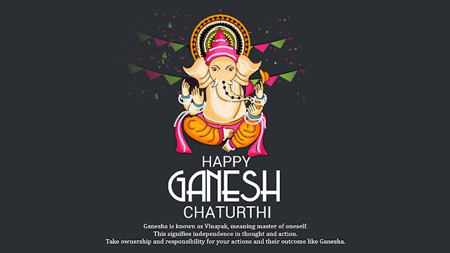 Ganesha is known as Vinayak, meaning master of oneself..Happy Ganesh Chaturthi 2018