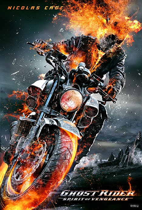 Ghost Rider Bike Hd Wallpaper Scriptation New Posters Ghost Rider Spirit Of Vengeance 2012