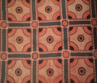 "Close-up of heirloom quilt featured in the book ""Florida Quilts"""