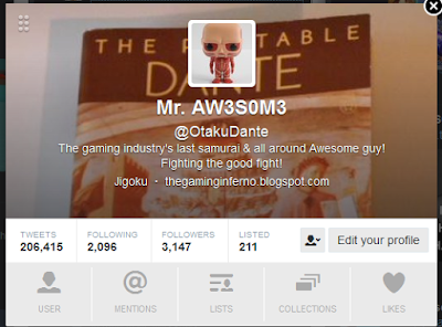 otakudante twitter profile page