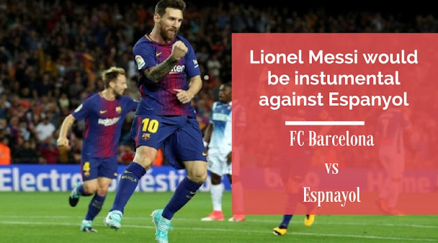 Lionel Messi would be instrumental for Barca in their second leg tie against Espanyol in Copa Del Rey