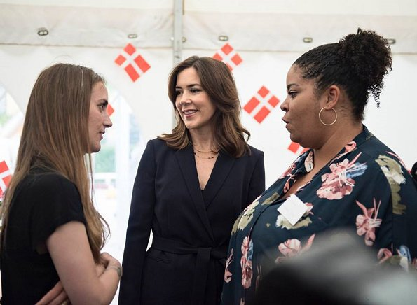 Crown Princess Mary of Denmark attended reception of 20th anniversary of establishment of Baglandet Copenhagen (Baglandet Københavns)