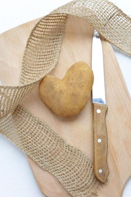 Herz aus Kartoffel. Edyta Guhl.