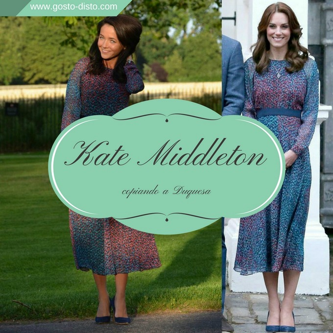 Kate Urbanska copiando os looks da Kate Middleton