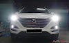 Hyundai Tucson nâng cấp bi xenon - mí led cho ô tô