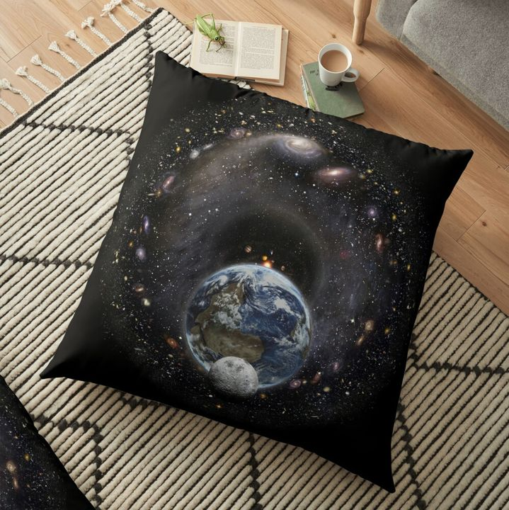 Earth, Moon and the Universe Pillow