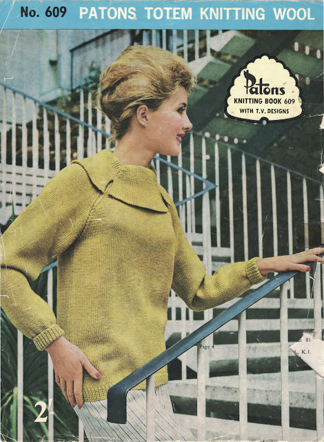 The Vintage Pattern Files: Free 1960s Knitting Pattern - Patons Knitting Book No.609 With TV Designs