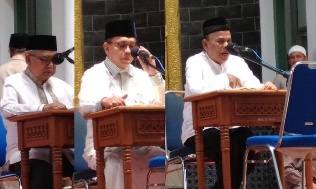Tes Baca Al-Quran Calon Gubernur Aceh, Tiga Orang Duduk Pakai Kursi
