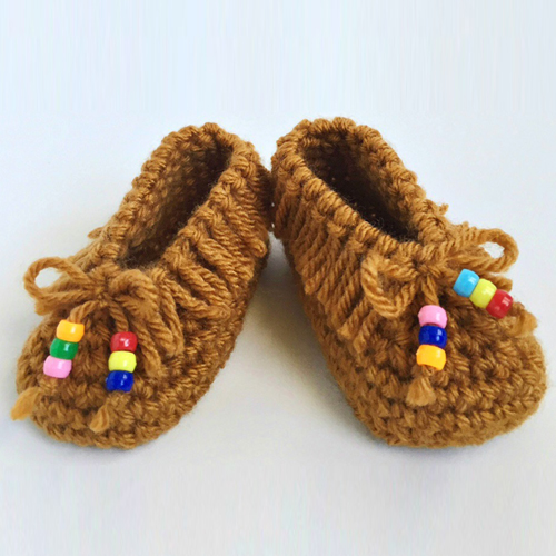 Crochet Baby Moccasins - Free Pattern