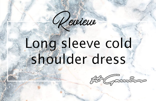 Erika Seol: [Review] Long Sleeve Cold Shoulder Dress ft Gamiss