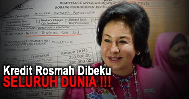 TERKINI ! Kredit Rosmah Dibeku SELURUH DUNIA ! Banyak Lagi Bala Akan Menimpa, Semuanya Kerana...