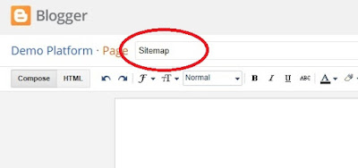 Add HTML Sitemap Page In Blogger-2