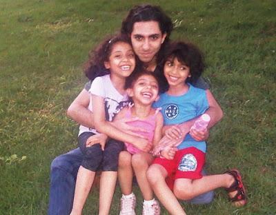 Raif Badawi, sentenced to 1,000 lashes for blasphemy.