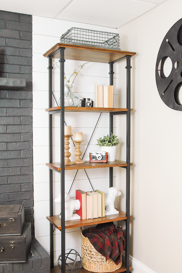 mixed material bookcase