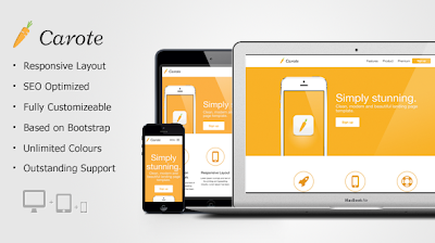 Carote Responsive App Landing Page NULLED