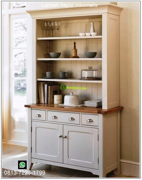 gambar lemari dapur dari kayu jati