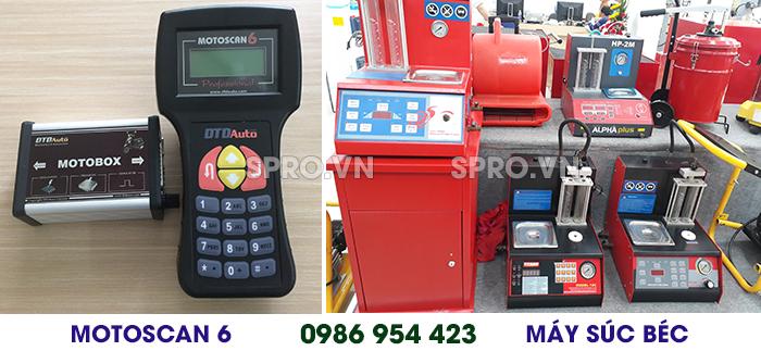 Địa chỉ bán máy súc rửa kim phun và máy chẩn đoán lỗi xe máy giá rẻ