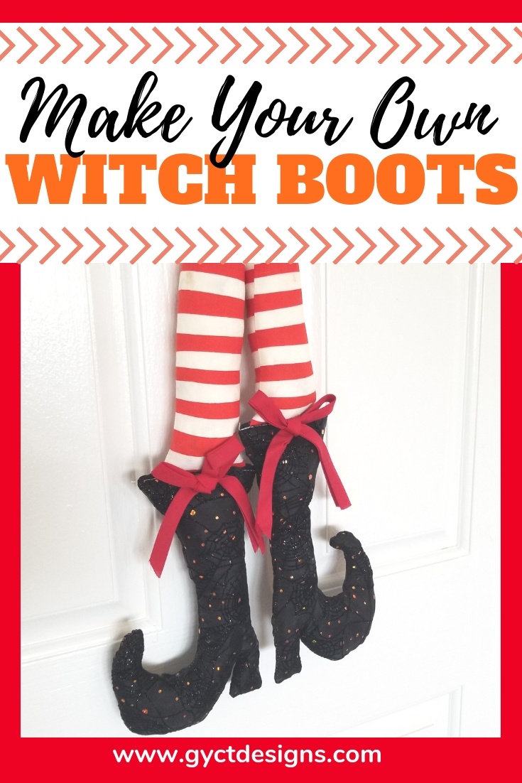 Witch shoe template and tutorial gyct designs make your own adorable witch boots for fall or halloween decorating with this free witch shoe maxwellsz