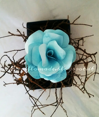 paper flower, water colour, real love, silhouette cameo, fiore di carta