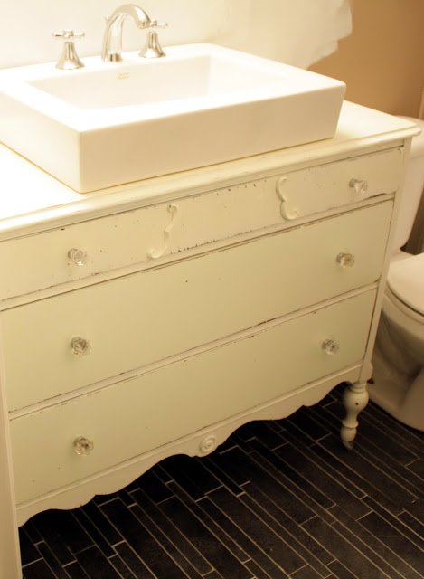 The simple craft diaries old dresser into bathroom vanity - Bathroom vanities made from old dressers ...