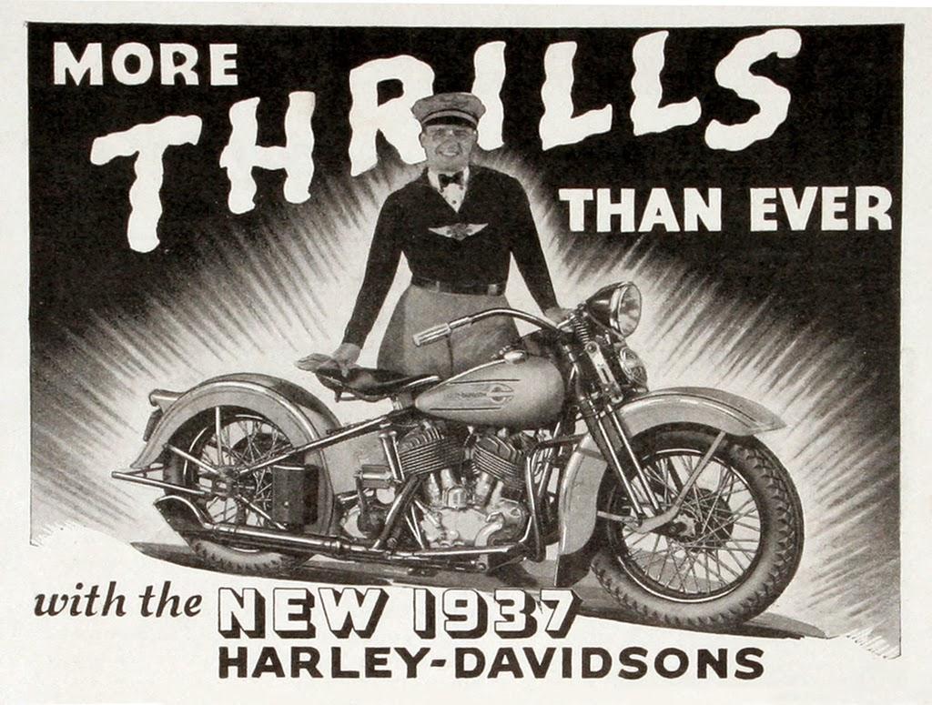 Old Harley Davidson: Racing Cafè: Vintage Brochures: Harley-Davidson 1937