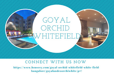 Goyal orchid is a new project in Whitefield Bangalore.