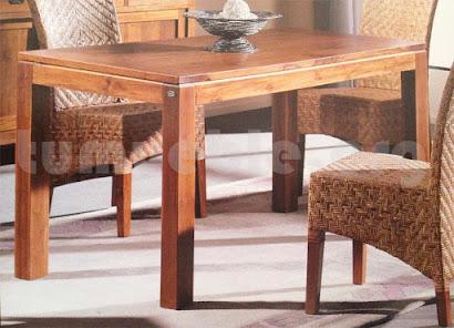 mesa comedor hecho en teca 4002